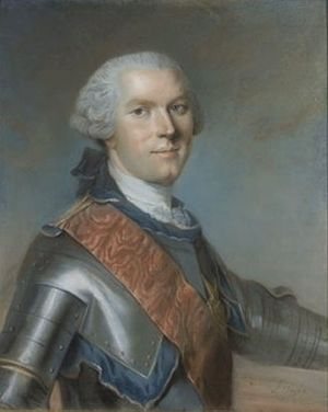 Adrien-Louis de Bonnières, duc de Guînes - Portrait of Adrien-Louis de Bonnières painted by Louis Vigée