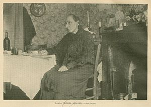 Louise Michel - Louise Michel at home in France during her later years.