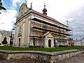 Lovčice (okres Hradec Králové), kostel sv. Bartoloměje během rekonstrukce.jpg