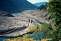 Low water, Cougar Reservoir, 2002 dam upgrade (10899934813).jpg