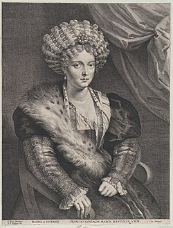 Lucas Vorsterman after Rubens - Portrait of Isabella d'Este DP879963.jpg