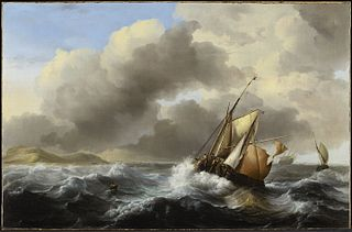 Fishing Vessels Offshore in a Heavy Sea