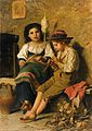 Luigi Bechi Spinnerin und Flötenspieler.jpg