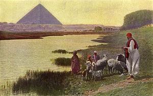 El Nilo y la Gran Pirámide.