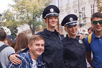 National Police of Ukraine - 23 August 2015 launch of the new patrol police in Lviv.