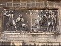 Lyon 5e - Rue des Farges - Église Saint Just - Façade - Bas-relief du martyre de saint Irénée.jpg