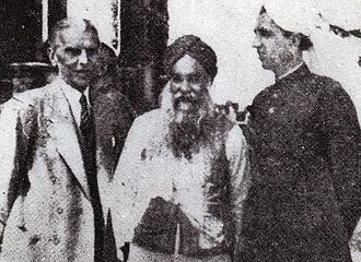 Prime Minister of the Punjab - Image: M.A. Jinnah, Master Tara Singh, and Khizar Hayat Tiwana