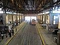 MBTA World Trade Center station from mezzanine, June 2012.JPG