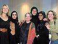MFA faculty Agnieszka Holland with students.jpg