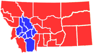 United States presidential election in Montana, 1908 - Image: MT1908president
