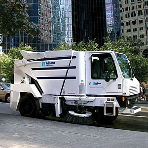 The Allianz MX450 Mechanical Street Sweeper