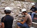 Maçonnerie sur le château-fort de Briançon.JPG