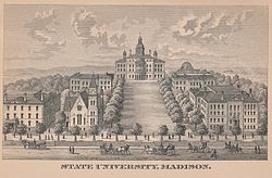 An old map of the university