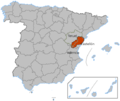 Maestrazgo within Spain.png