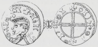 Magnus Barefoot - Drawing of a coin from the reign of Magnus Barefoot (with confused legend)