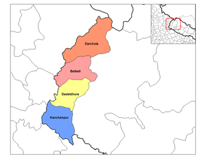 Mahakali Zone - Image: Mahakali districts