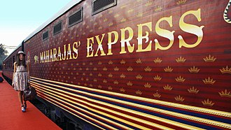 Incredible India - Maharajas' Express, a train which travels the famous Indian sites. The train was launched by IRCTC.