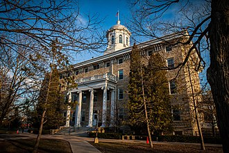 Lawrence University - Main Hall is listed on the National Register of Historic Places and is an Appleton landmark.
