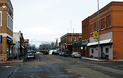 Main Street in Wibaux