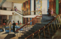 Main staircase in The Concord Hotel in Kiamesha Lake, NY50 (8148914865).png