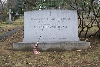 Major Bowes - The grave of Major Edward Bowes and wife Margaret Illington in Sleepy Hollow Cemetery