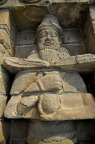 Uruk - Male deity pouring a life-giving water from a vessel. Facade of Inanna Temple at Uruk, Iraq. 15th century BC. The Pergamon Museum