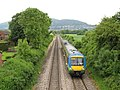 Malvern Link - train at Lower Howsell Road bridge 2008 - geograph.org.uk - 818886.jpg