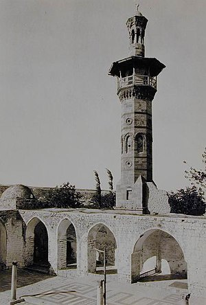 Great Mosque of Hama - The octagonal Mamluk minaret built in 1427