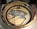 Manifattura tunisina, ciotola con animale, 1165-1220 ca., da mus. diocesano s. miniato.JPG