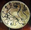 Manises, piatto con lustro metallico, 1500 ca..JPG