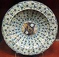 Manises, piatto con stemma di mariotto benvenuti, 1450-1500 ca..JPG