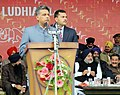 Manish Tewari addressing the inaugural function of the 18th National Youth Festival, at Ludhiana, Punjab. The Minister of State (Independent Charge) for Youth Affairs & Sports.jpg
