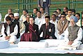 Manmohan Singh alongwith the Chairperson, UPA, Smt. Sonia Gandhi, the Member of Parliament, Lok Sabha, Shri Rahul Gandhi and other dignitaries at the Sarva Dharma Prarthana Sabha, at Shakti Sthal.jpg