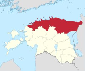 Northern Estonia - Image: Map of Northern Estonia