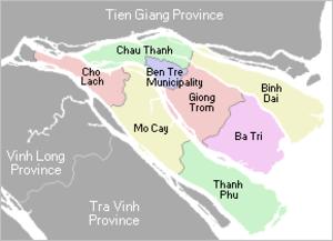 Bến Tre Province - Image: Map Vietnam Ben Tre