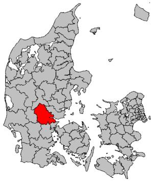 Vejle Municipality - Image: Map DK Vejle