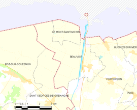 Mapa obce Beauvoir
