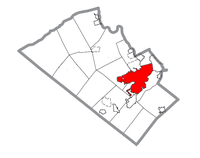 Map of Allentown, Lehigh County, Pennsylvania Highlighted.png