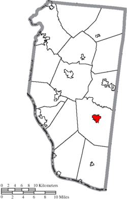 Location of Bethel in Clermont County
