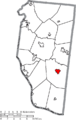 Map of Clermont County Ohio Highlighting Bethel Village.png
