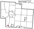 Map of Delaware County Ohio Highlighting Shawnee Hills Village.png