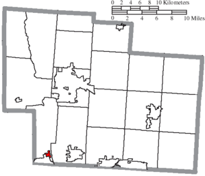 Shawnee Hills, Delaware County, Ohio - Image: Map of Delaware County Ohio Highlighting Shawnee Hills Village