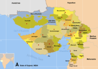 Map of Gujarat districts