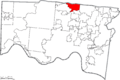 Map of Hamilton County Ohio Highlighting Springdale City.png