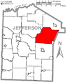 Map of Jefferson County, Pennsylvania Highlighting Washington Township.PNG