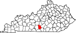 State map highlighting Metcalfe County