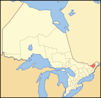 Location of the City of Ottawa in the Province of Ontario