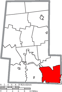 Location of Jerome Township in Union County
