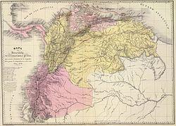Mapa de Venezuela, N. Granada y Quito, 1819 y 1820.jpg