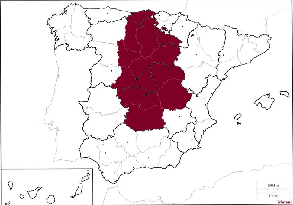 Mapa de castilla
